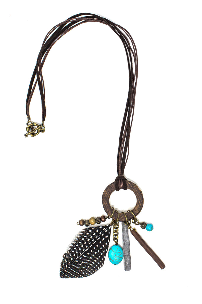 Savannah necklace in turquoise