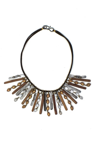 Organic element snare necklace