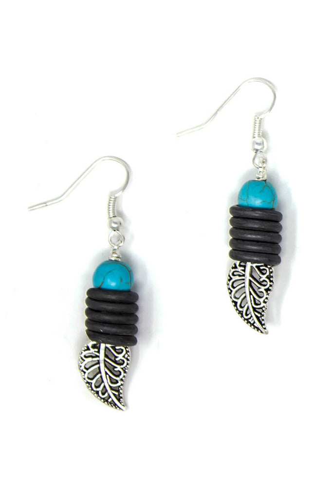Snare leaf earrings