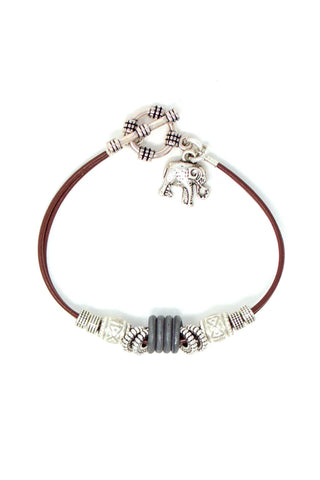Simple leather bracelet