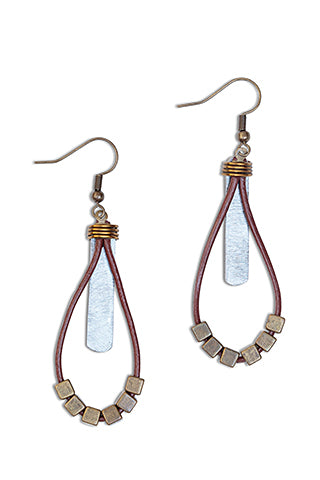 Hammered snare earrings
