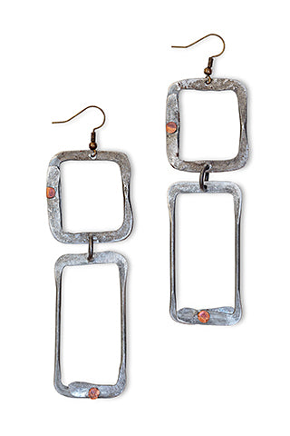Ladder snare earrings