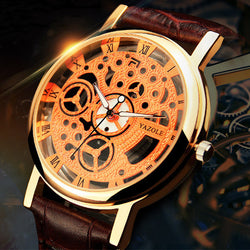 Rose Gold Skeleton Watch
