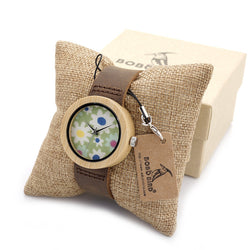 BOBO Bird Ladies Bamboo Floral Watch