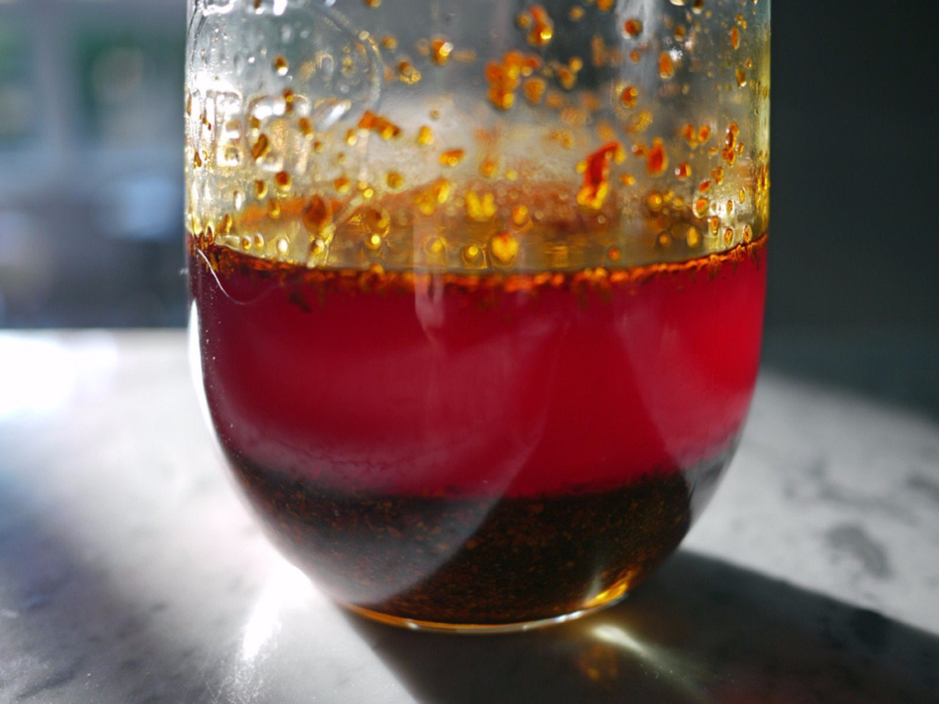 Chili oil with Sichuan chili flakes