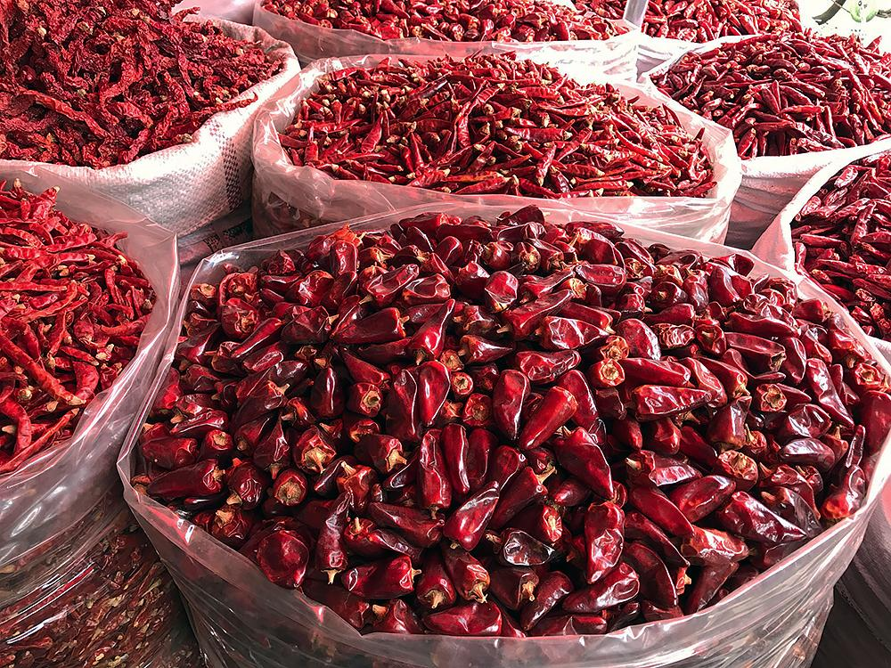 Sichuan chilies at the market