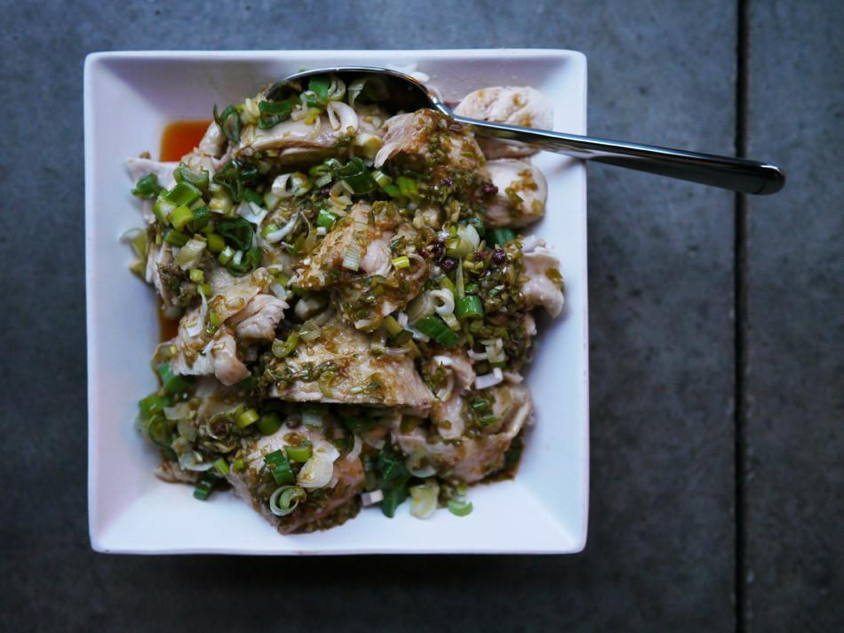 Jiao ma chicken with green Sichuan pepper