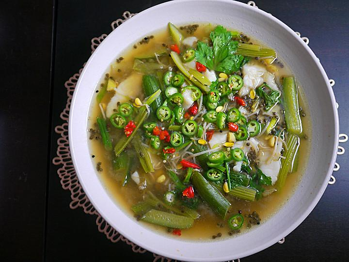 Green Sichuan pepper fish