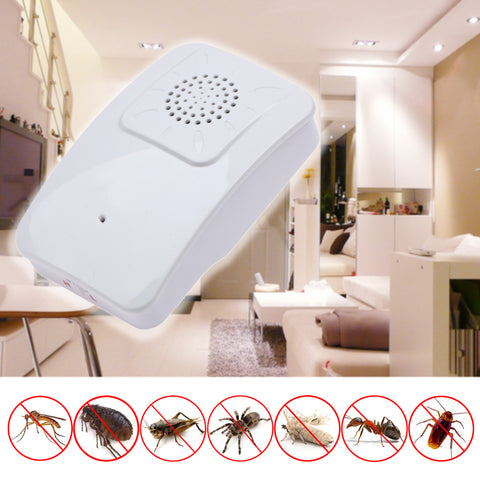 110-240V US/EU Plug Electronic Ultrasonic Mouse Killer Mouse Cockroach Trap Mosquito Repeller Insect Rats Spiders Control