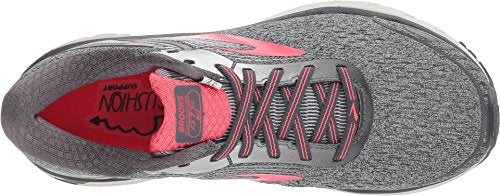 Brooks Women's Adrenaline GTS 18 Ebony/Silver/Pink 6 D US D - Wide