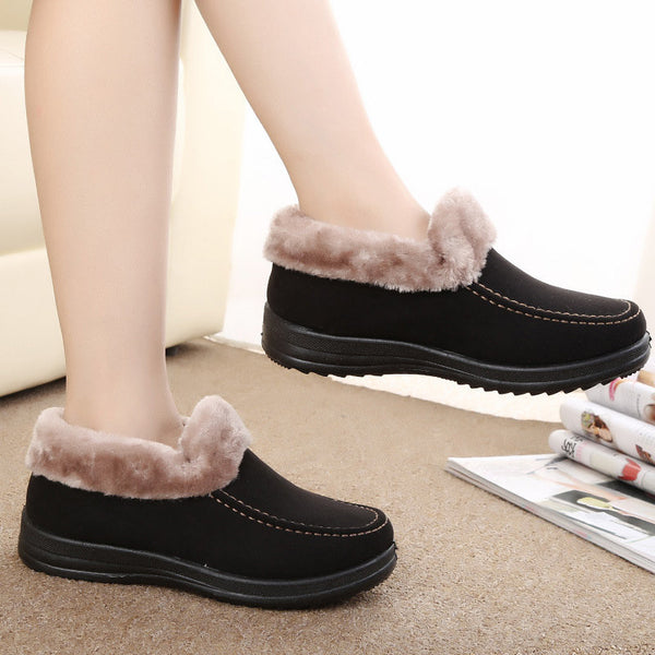 Wool Slip On Ankle Short Boots-Shoes-Shopangy.com