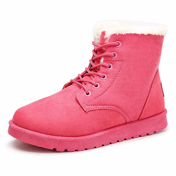 Snow Boots Fur Lining Ankle-Shoes-Shopangy.com