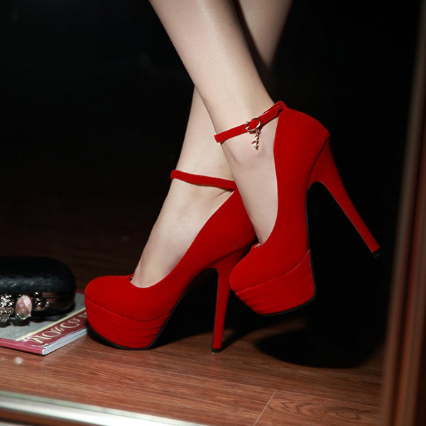 High Heel platform Ankle Strap-Shoes-Shopangy.com