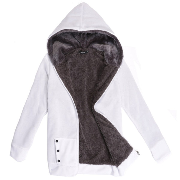 Autumn and Winter Women Fleeve Hoodies Casual Sweatshirt-Shopangy.com-White-L-Shopangy.com