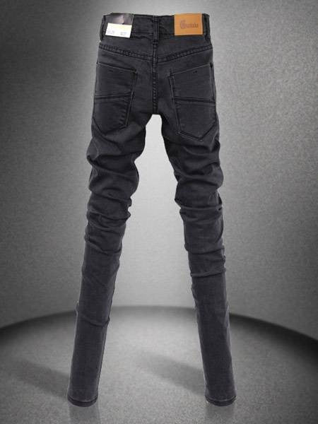 Slim Long Pencil Pants Black Skinny Jeans-bottoms-Shopangy.com