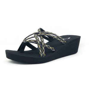Comfortable wedge flip flop sandals for women platform
