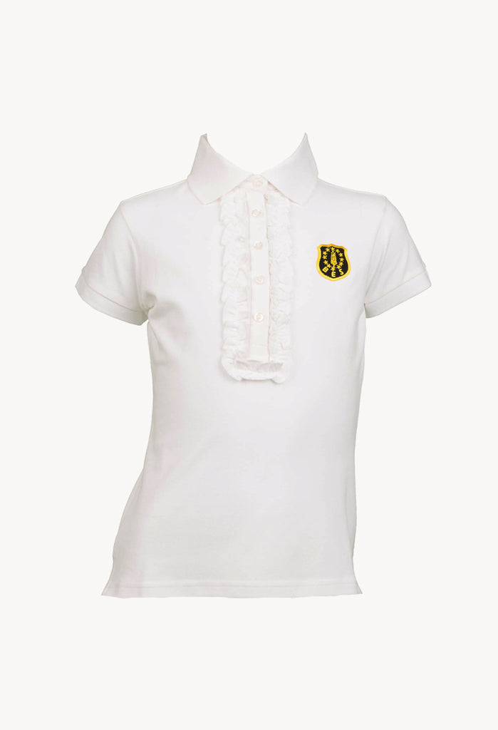 BES Polo Girl Manica Corta con Rouches