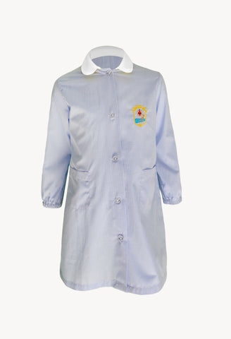 MC Apron Light Blue Squares Kindergarten