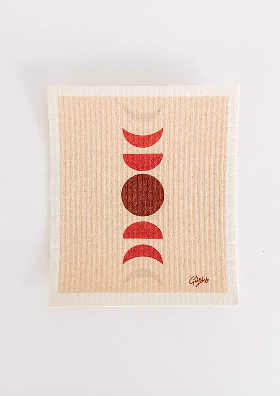 Swedish Dishcloth: Moon Cycle
