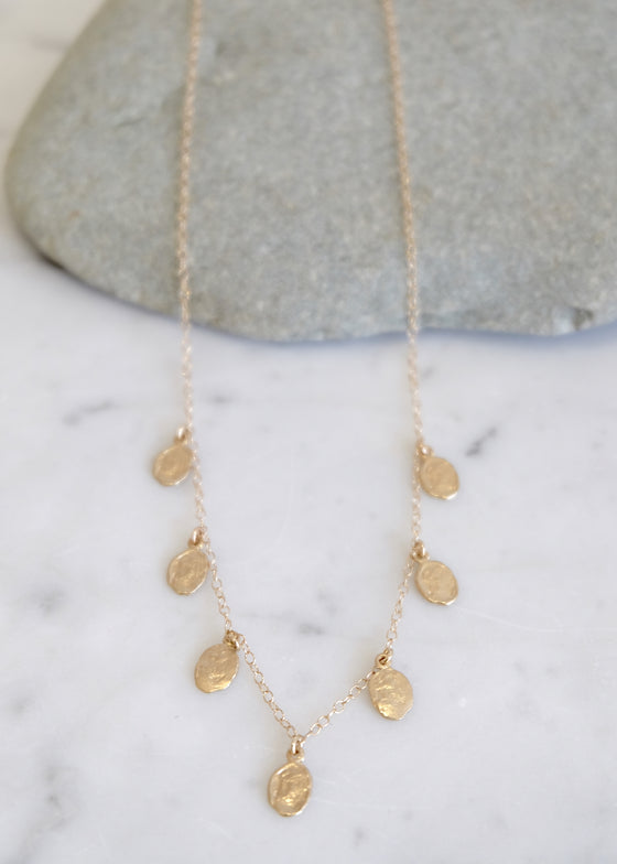 14k Gold Medium Flake Necklace