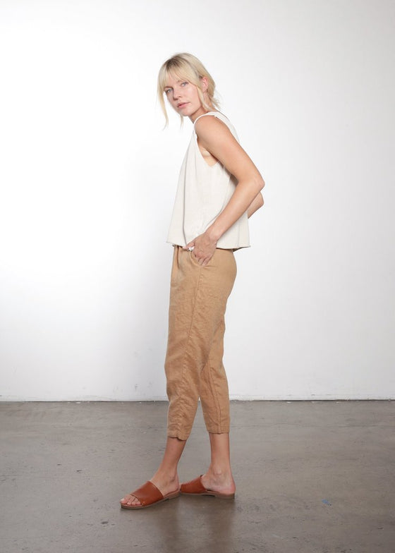 It Is Well | Pull On Pant | Almond Italian Linen