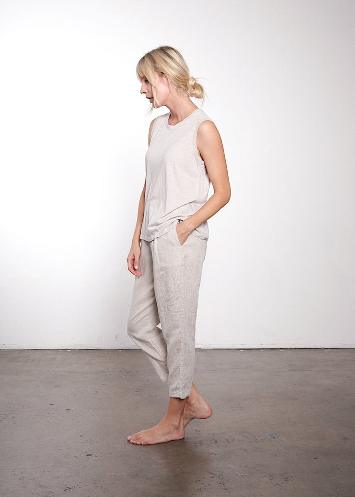 It Is Well | Italian Linen Pull On Pant | Natural