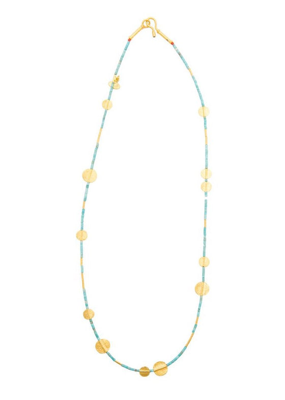 Ara | Turquoise + 24K Gold Necklace