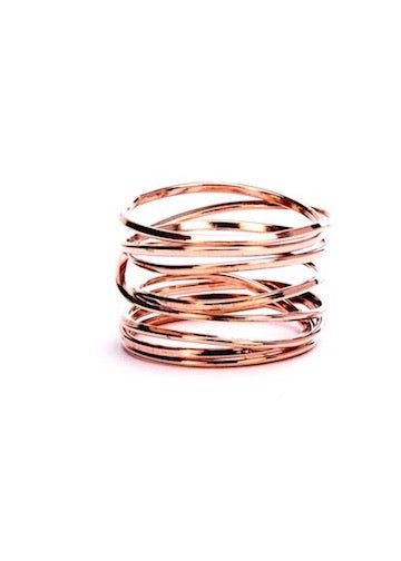 Lightly Bound | 8 Strand Rose Gold Ring