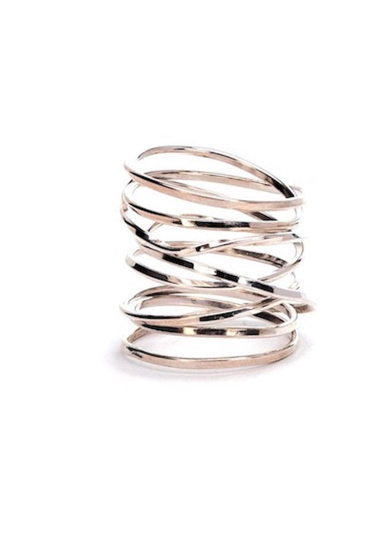 Heorth | Lightly Bound Ring | 8 Strand Sterling Silver