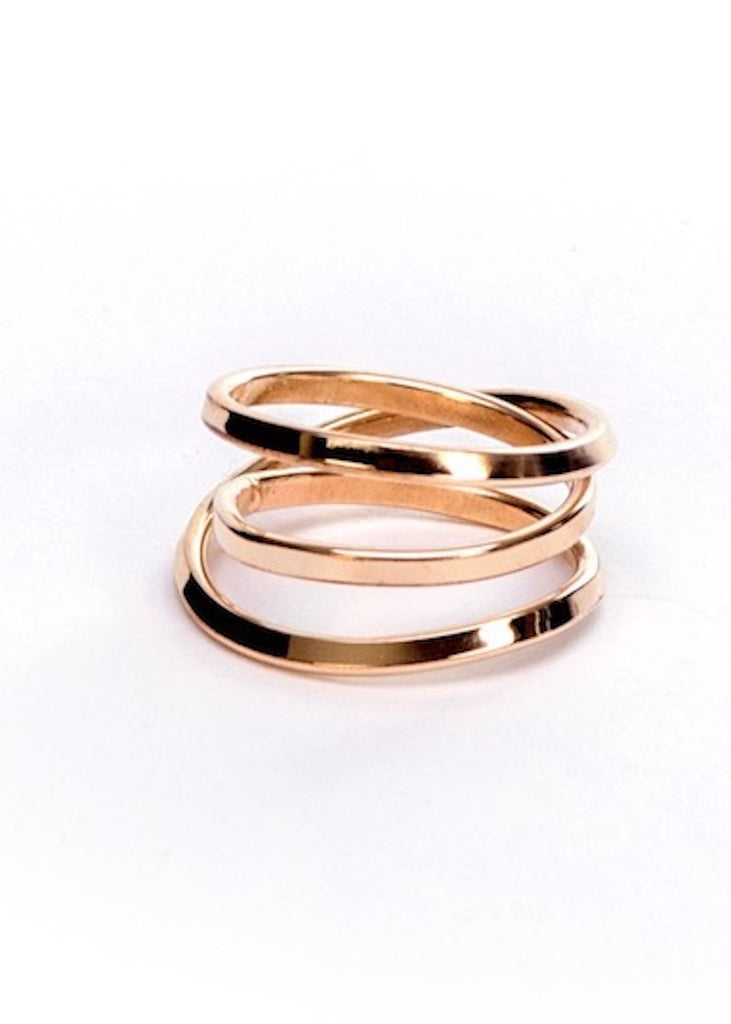 Heorth | Bound Ring | 3 Strand Yellow Gold