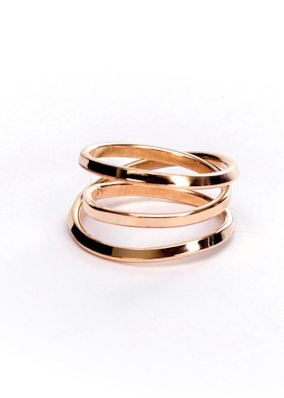 Bound | 3 Strand Yellow Gold Ring