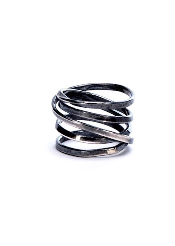 Bound | 5 Strand Oxidized Sterling Silver Ring
