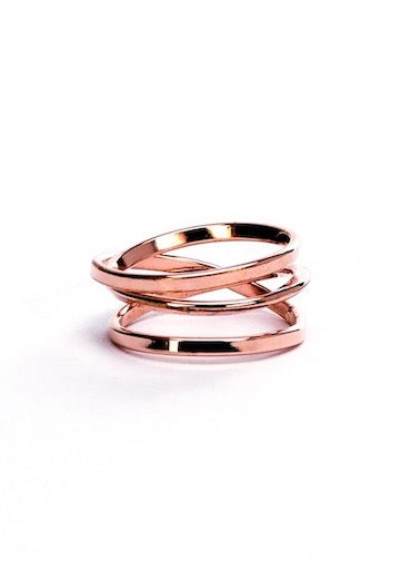 Heorth | Bound Ring | 3 Strand Rose Gold