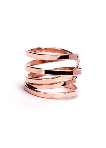 Heorth | Bound Ring | 5 Strand Rose Gold