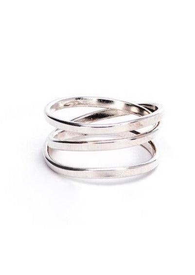 Heorth | Bound Ring | 3 Strand Sterling Silver