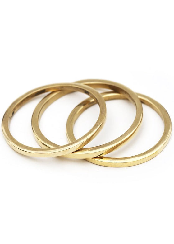 Meyelo | Brass Square Bangle