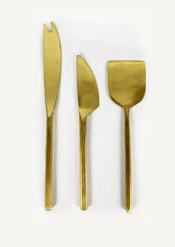Brass Cheese Cutting Set