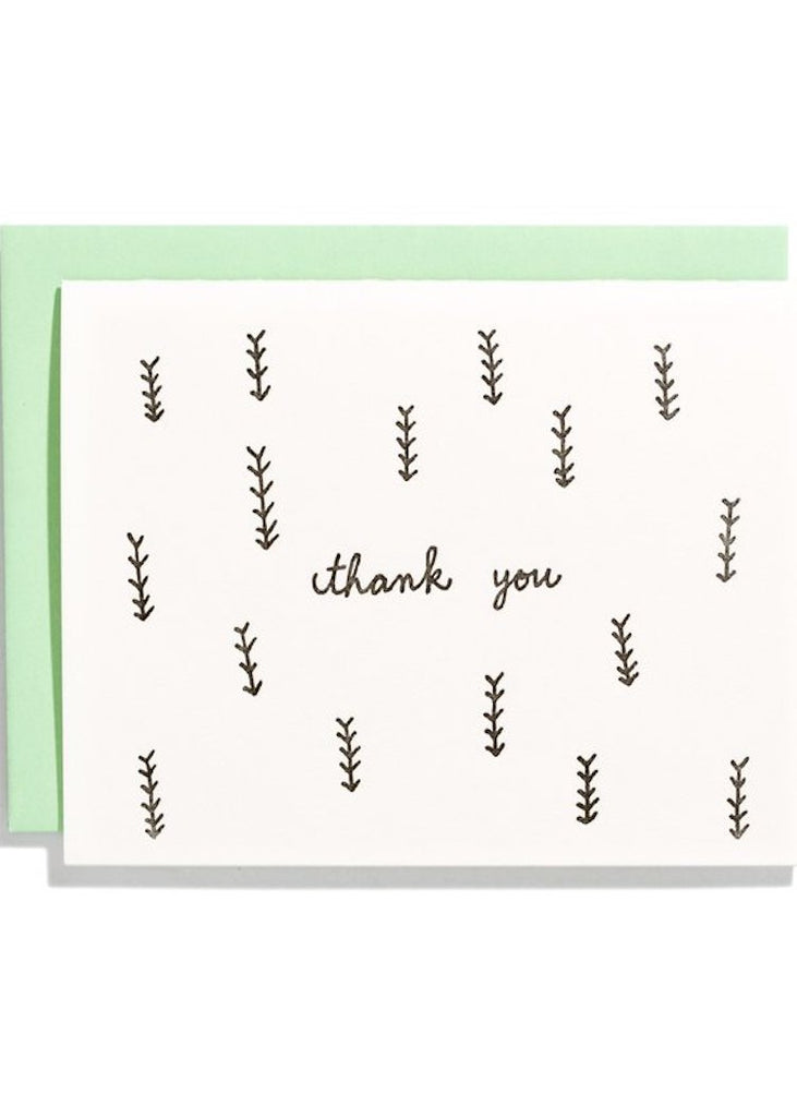 Card | Thank You Black Grass