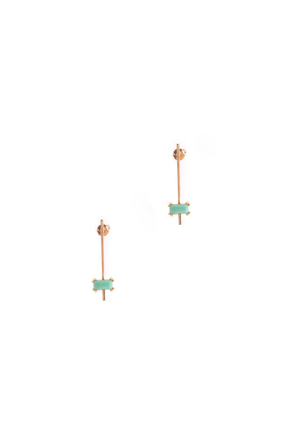 Nile Earrings | Green Turquoise