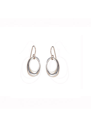 Colleen Mauer | Tri-toned Oblong Earrings | Mini