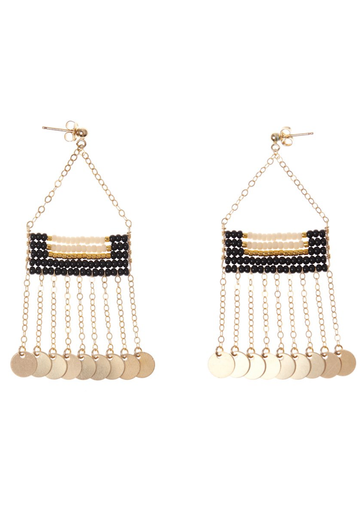 Sidai Design | Samburu Earrings with Shillingini | Black