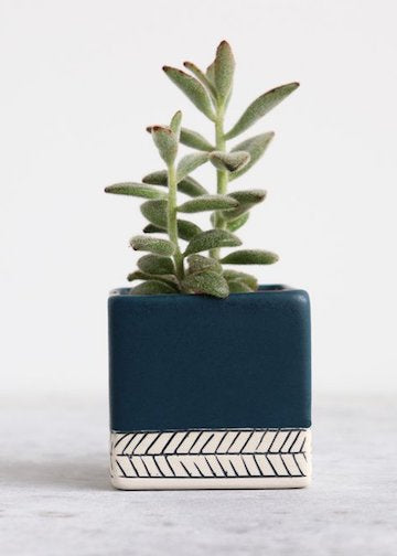 Large Square Herringbone Planter