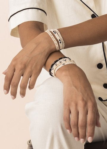 Sidai Design | XS Mayan Warrior Bracelet | Cream
