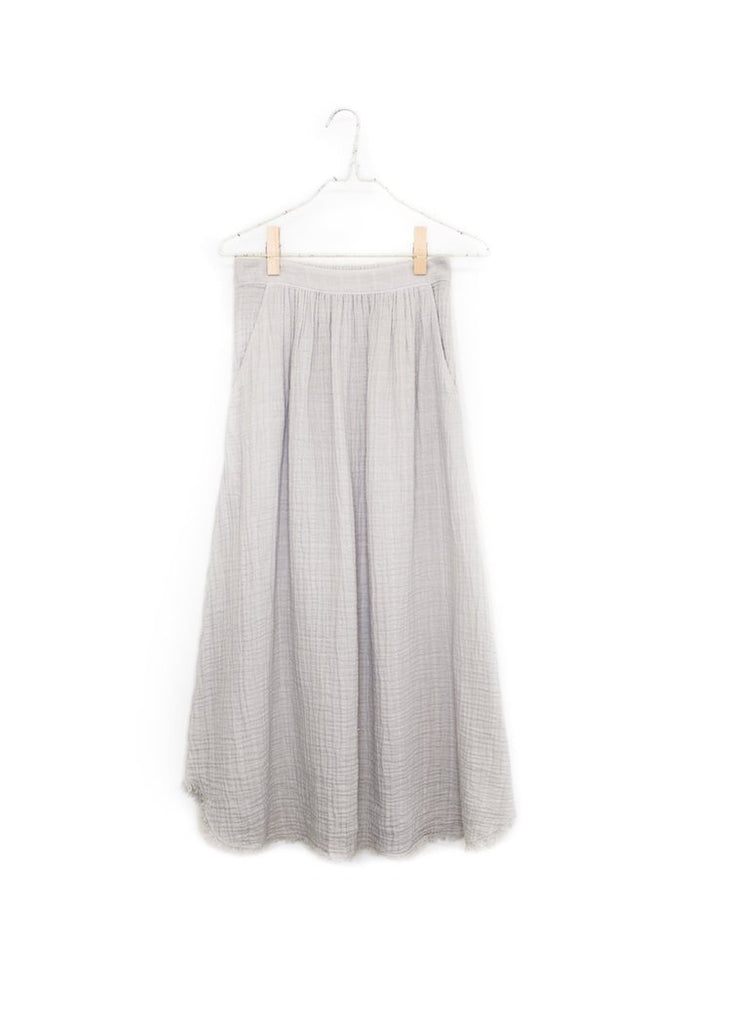 It Is Well | Full Frayed Skirt | Zinc