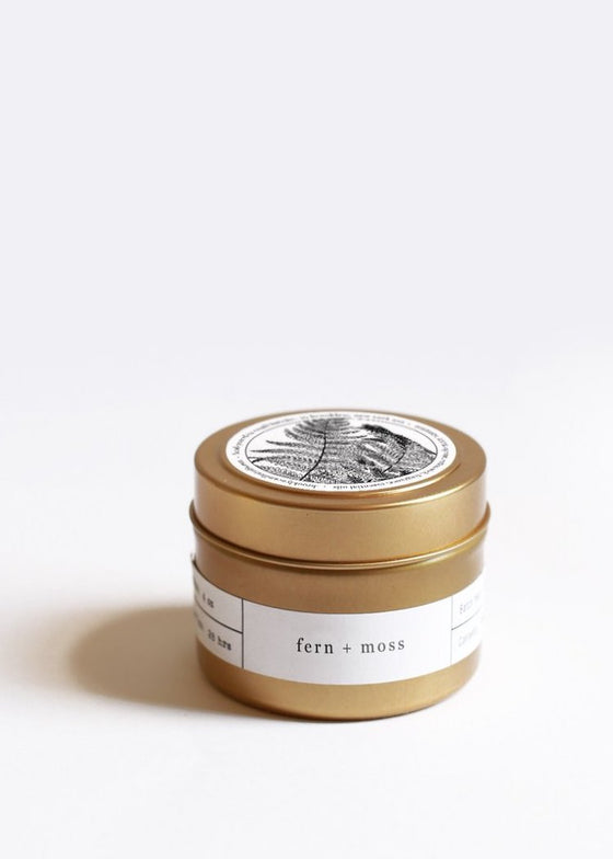 Fern + Moss Gold Travel Candle_Brooklyn Candle Studio_The Phoenix DC