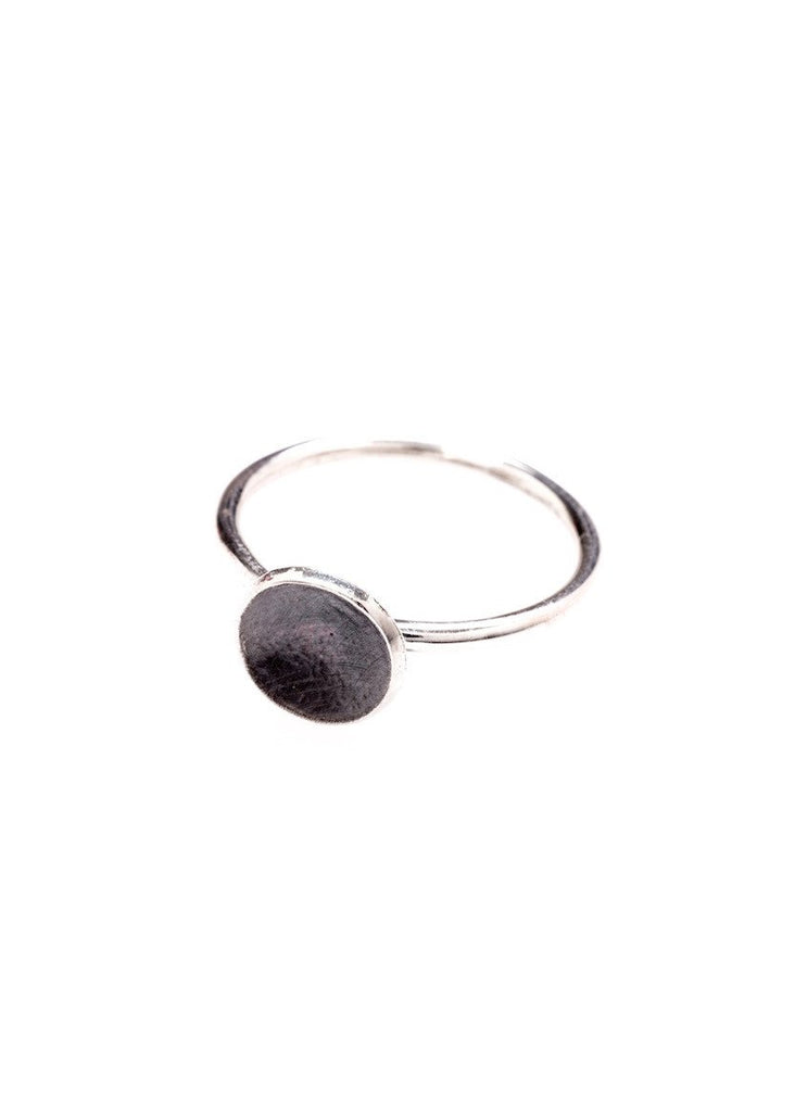 Heorth | Forge Ring | Oxidized Sterling Silver