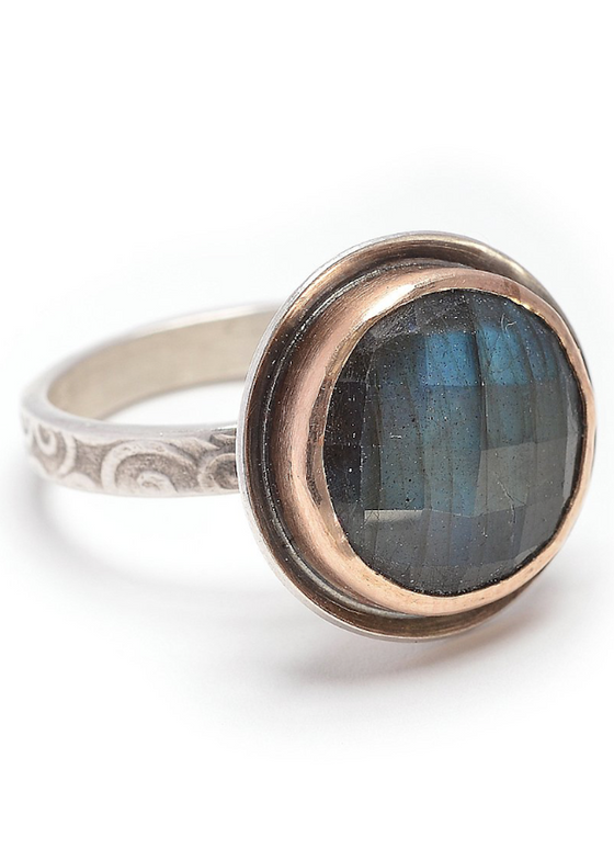 Gold Bezeled Labradorite RIng