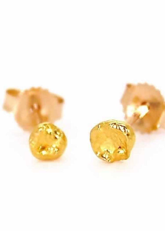 Heorth | Seed | 24k Gold Stud Earrings