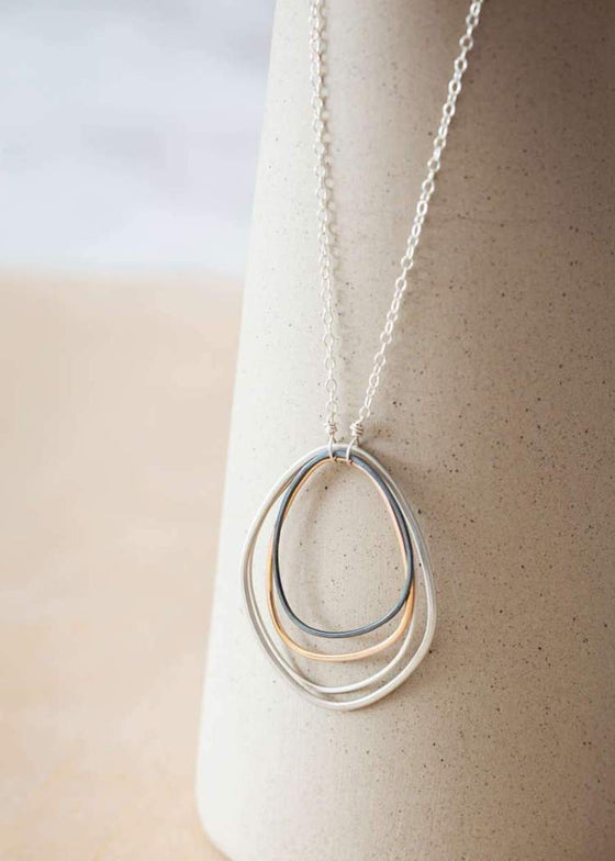 Colleen Mauer | Large Topography Necklace | Gold + Silver