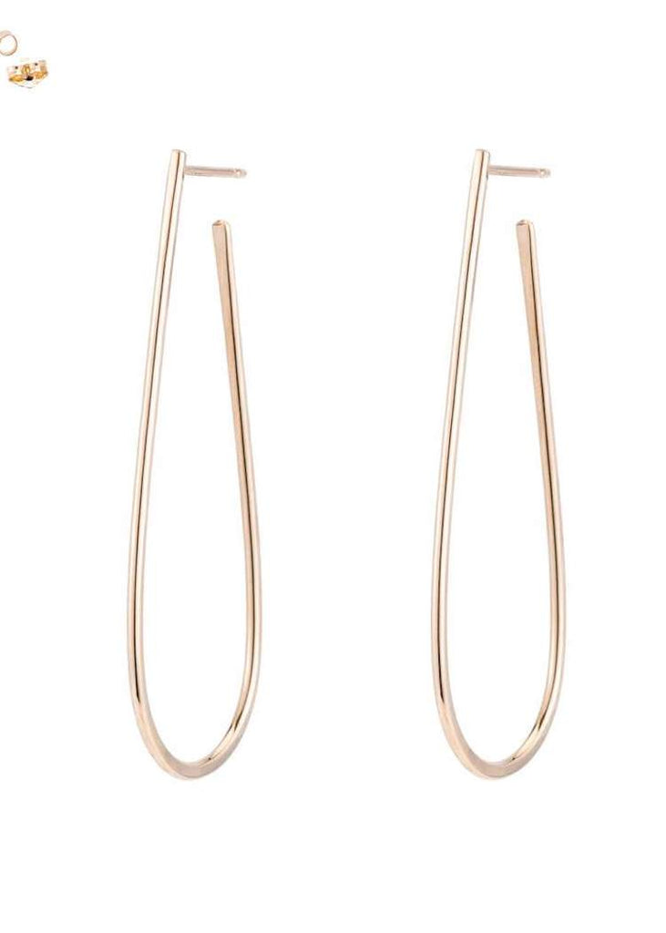 Colleen Mauer | Large U Post Earrings | Gold